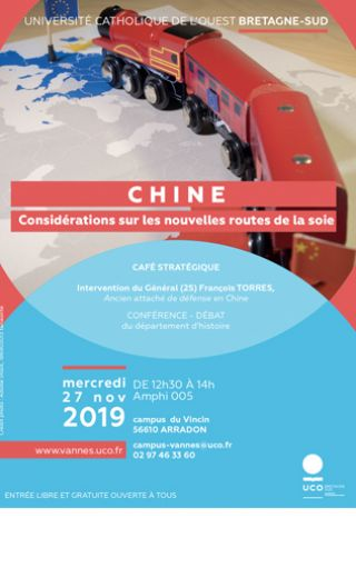 Affiche conférence : train jouet Chine Europe